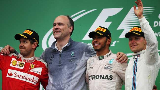 Podium Canada 2016 Lewis Hamilton (Mercedes AMG)