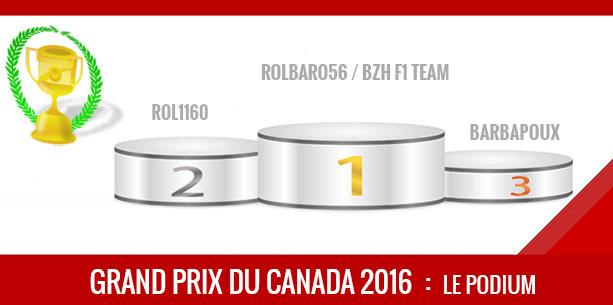 Canada 2016, Vainqueur Robalro56