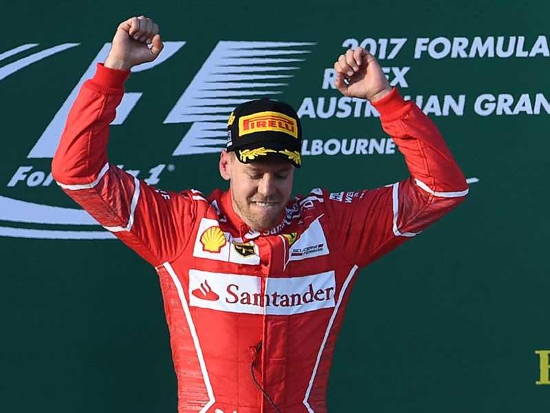 Sebastian Vettel (Ferrari) vainquer du Grand Prix d'Australie 2017