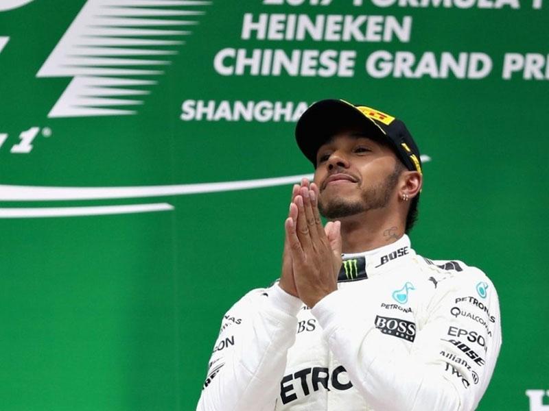 Lewis Hamilton (Mercedes AMG) vainquer du Grand Prix de Chine 2017