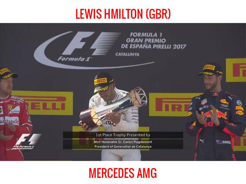 Lewis Hamilton (Mercedes AMG) vainquer du Grand Prix d'Espagne 2017