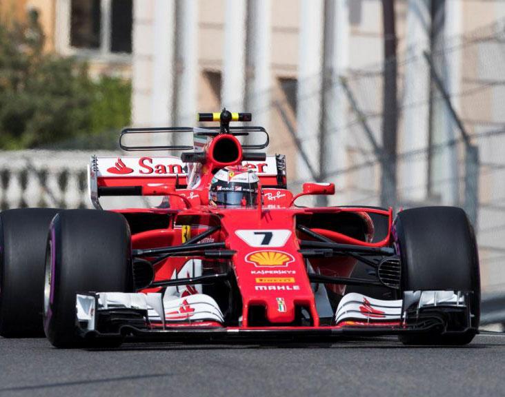 Kimi Räikkönen (Ferrari) en pole position du Grand Prix de Monaco 2017