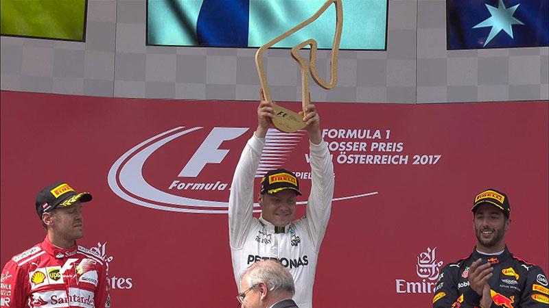 Valtteri Bottas ((Mercedes AMG) vainqueur du Grand Prix d'Autriche 2017