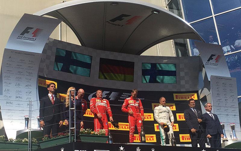 Sebastian Vettel (Ferrari) vainqueur du Grand Prix de Hongrie 2017