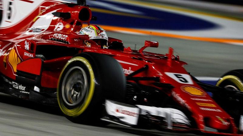 Sebastian Vettel (Ferrari) en pole position du Grand Prix de Chine 2018