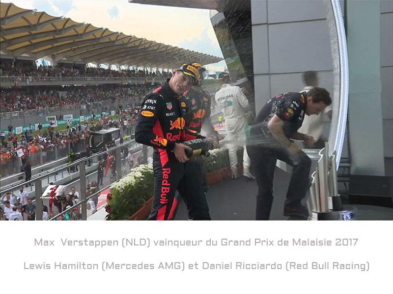 Max Verstappen (Red Bull Racing) vainqueur du Grand Prix de Malaisie 2017