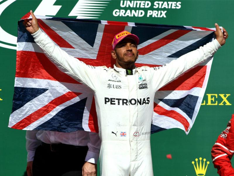 Lewis Hamilton (Mercedes AMG) vainqueur du Grand Prix des États-Unis 2017