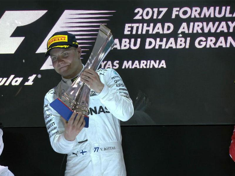 Valtteri Bottas ((Mercedes AMG) vainqueur du Grand Prix d'Abou Dhabi 2017