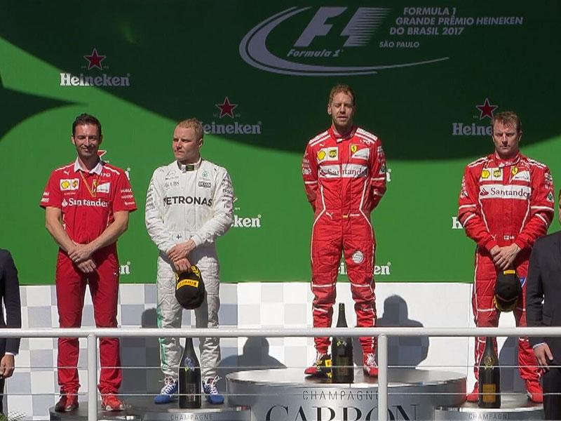 Sebastian Vettel (Ferrari) vainqueur du Grand Prix du Brésil 2017