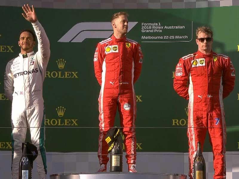 Sebastian Vettel (Scuderia Ferrari) vainqueur du Grand Prix d'Australie 2018