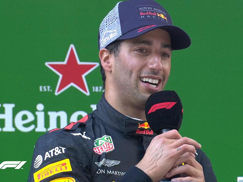 Daniel Ricciardo (Red Bull Racing) vainqueur du Grand Prix de Chine 2018