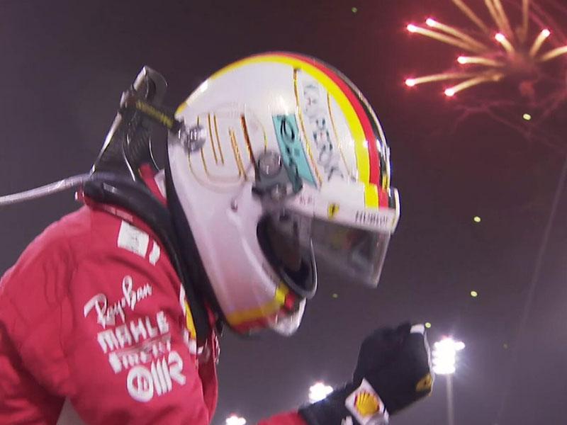 Sebastian Vettel (Scuderia Ferrari) vainqueur du Grand Prix de Bahrain 2018