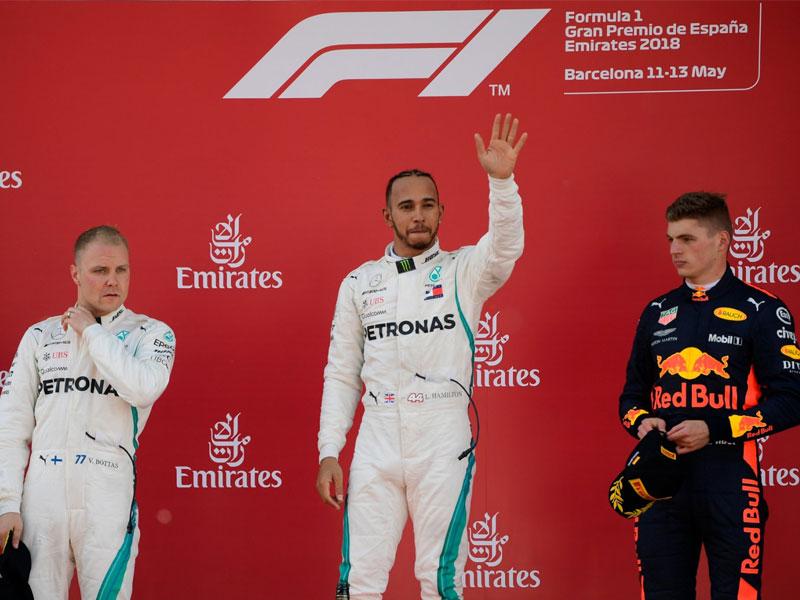 Lewis Hamilton (Mercedes AMG) vainqueur du Grand Prix d'Espagne 2018