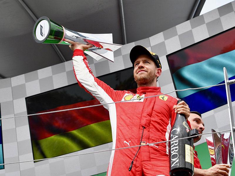 Sebastian Vettel (Ferrari) vainqueur du Grand Prix du Canada 2018
