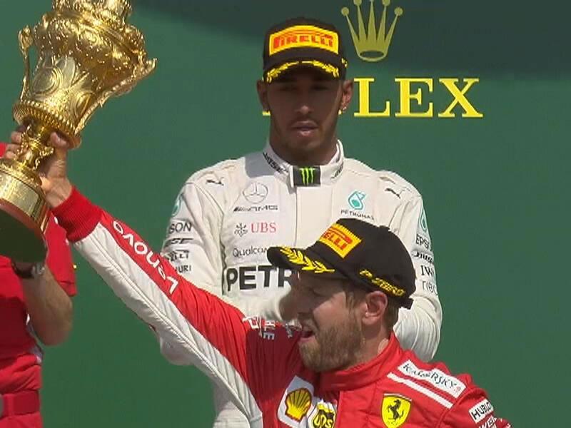 Sebastian Vettel (Scuderia Ferrari) vainqueur du Grand Prix de Grande-Bretagne 2018
