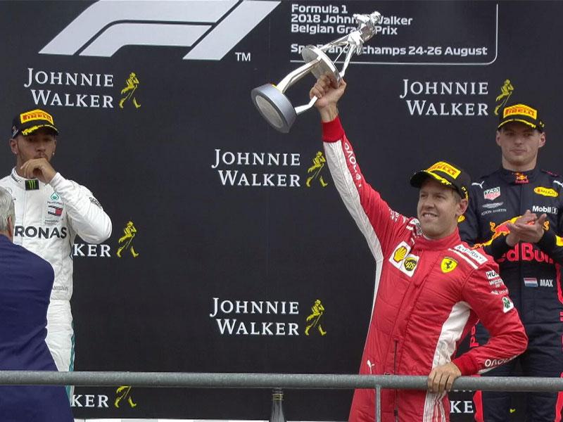 Sebastian Vettel (Scuderia Ferrari) vainqueur du Grand Prix de Belgique 2018