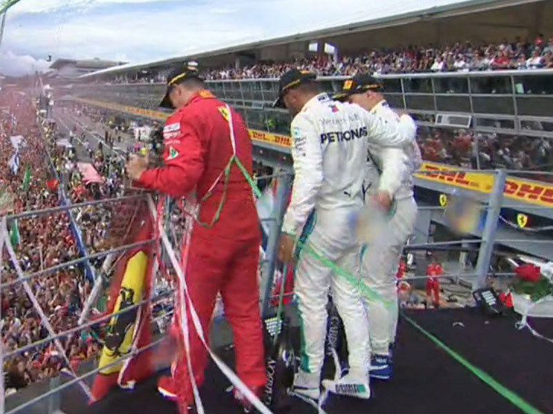 Lewis Hamilton (Mercedes AMG) vainqueur du Grand Prix d'Italie 2018