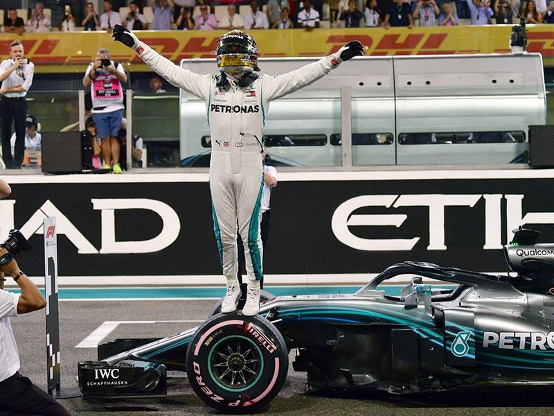 Lewis Hamilton (Mercedes AMG) en pole position du Grand Prix d'Abou Dhabi 2018