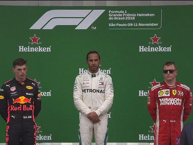 Lewis Hamilton (Mercedes AMG) vainqueur du Grand Prix du Brésil 2018