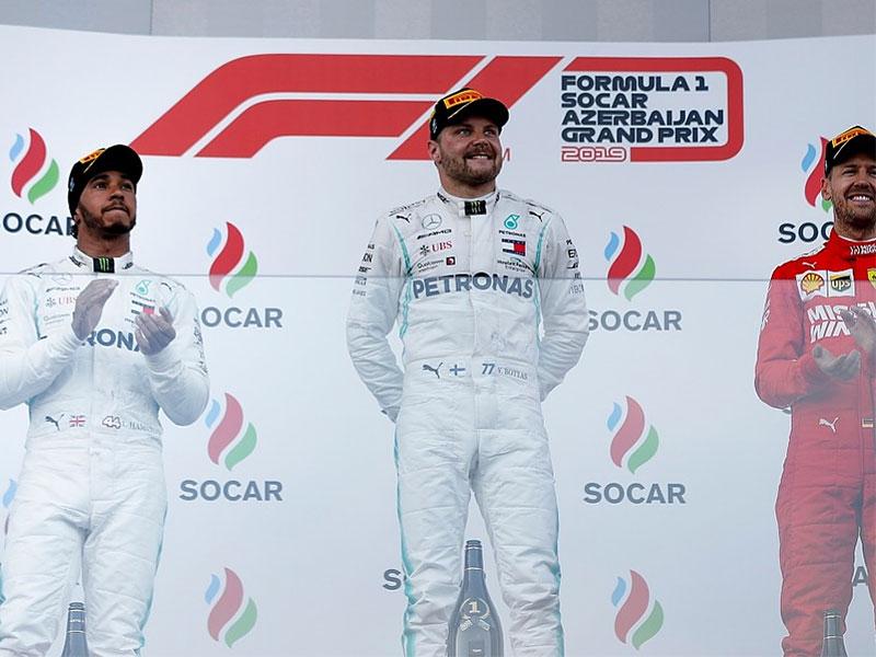 Valtteri Bottas (Mercedes AMG) vainqueur du Grand Prix d'Azerbaïdjan 2019