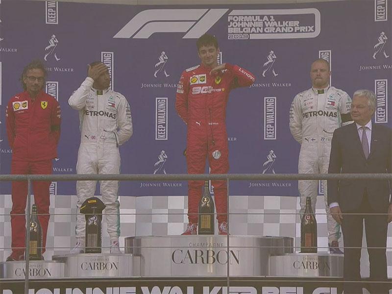 Charles Leclerc (Scuderia Ferrari Mission Winnow) vainqueur du Grand Prix de Belgique 2019