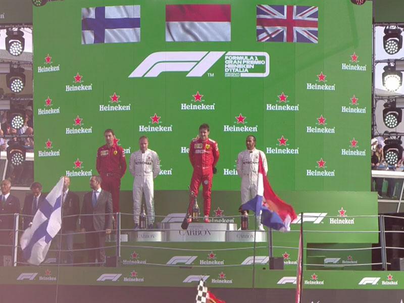 Charles Leclerc (Scuderia Ferrari Mission Winnow) vainqueur du Grand Prix d'Italie 2019