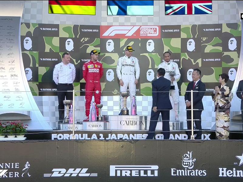 Valtteri Bottas (Mercedes AMG) vainqueur du Grand Prix du Japon 2019