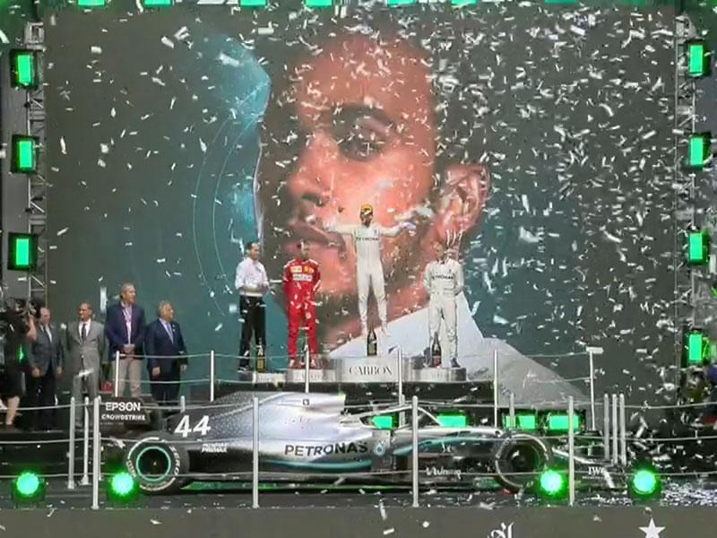 Lewis Hamilton (Mercedes AMG) vainqueur du Grand Prix du Mexique 2019
