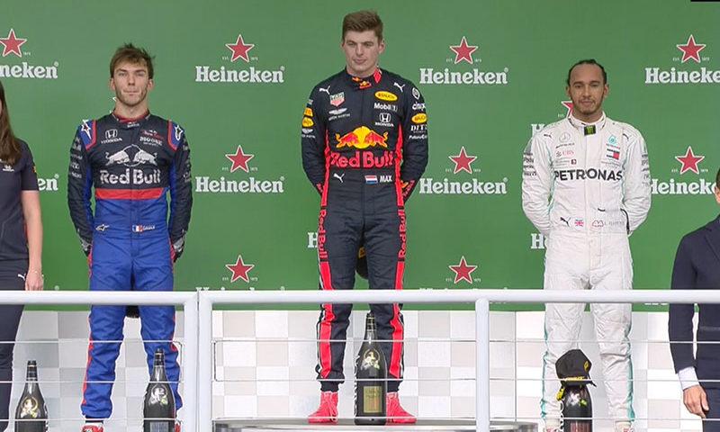 Max Verstappen (Red Bull Racing) vainqueur du Grand Prix du Brésil 2019
