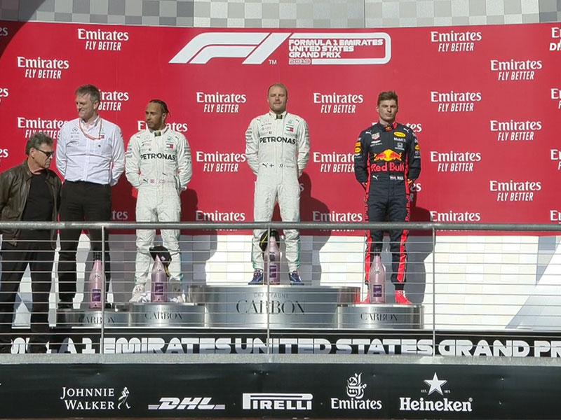 Valtteri Bottas (Mercedes AMG) vainqueur du Grand Prix des États-Unis 2019