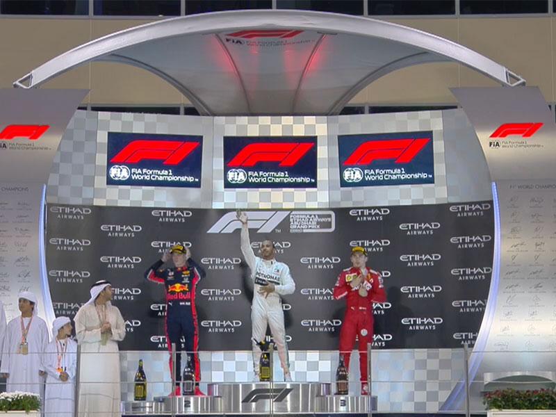 Lewis Hamilton (Mercedes AMG) vainqueur du Grand Prix d'Abou Dhabi 2019