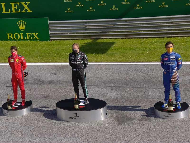 Valtteri Bottas (Mercedes AMG) vainqueur du Grand Prix d'Autriche 2020