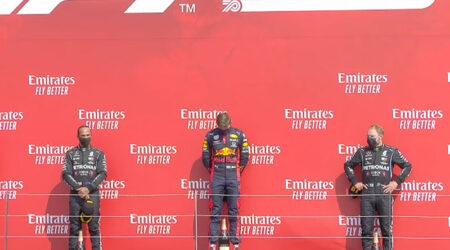 Max Verstappen (Aston Martin Red Bull Racing) vainqueur du Grand Prix du 70E Anniversaire 2020