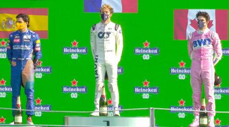 Pierre Gasly (Scuderia AlphaTauri Honda) vainqueur du Grand Prix d'Italie 2020
