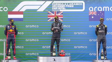 Lewis Hamilton (Mercedes AMG) vainqueur du Grand Prix de l'Eifel 2020