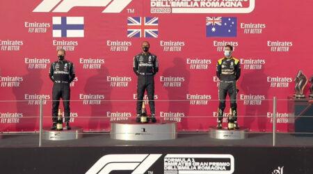 Lewis Hamilton (Mercedes AMG) vainqueur du Grand Prix d'Émilie-Romagne 2020