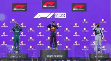 Sergio Perez (Red Bull Racing) vainqueur du Grand Prix d'Azerbaïdjan 2021