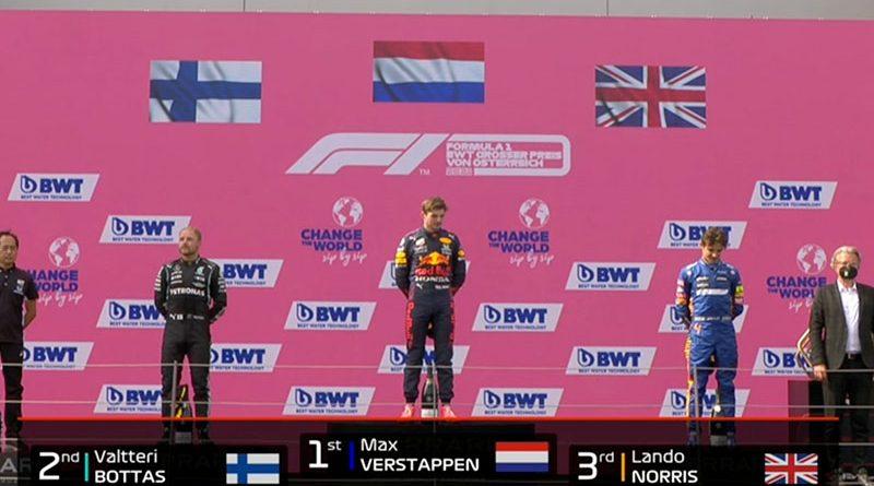 Max Verstappen (Red Bull Racing) vainqueur du Grand Prix d'Autriche 2021