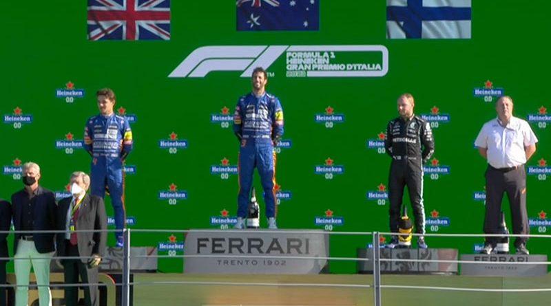 Daniel Ricciardo (McLaren F1 Team) vainqueur du Grand Prix d'Italie 2021